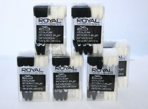 12 x Tubs of 25 x Royal Double Ended Eyeshadow Applicators (300 Applicators)